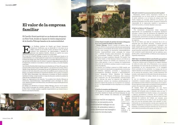 """Revista """"Hotelería & Turismo"""", Septiembre 2013"""