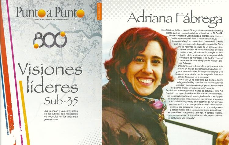 Adriana Fábrega en revista Punto a Punto