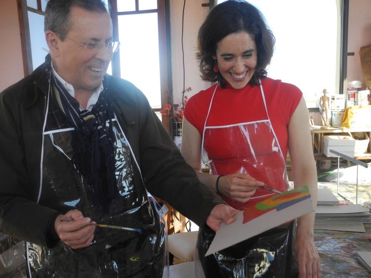 Adriana Fábrega con Mario Markic