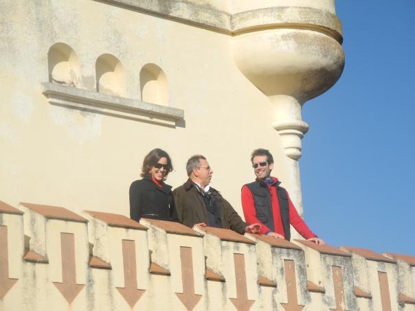 Adriana y Edgardo Fábrega con Mario Markic